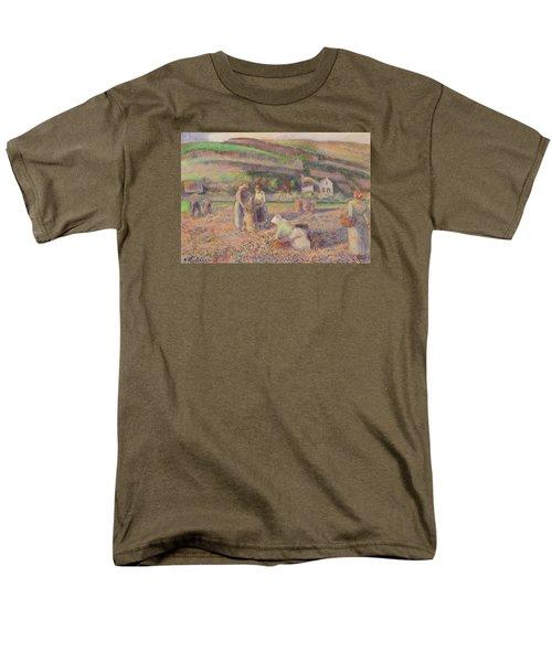 The Potato Harvest Men's T-Shirt  (Regular Fit) by Camille Pissarro