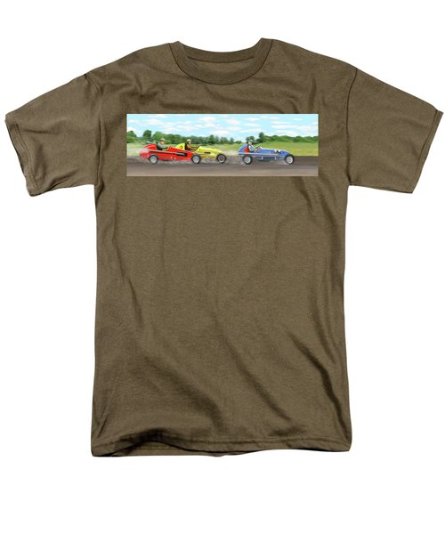 Men's T-Shirt  (Regular Fit) featuring the digital art The Racers by Gary Giacomelli