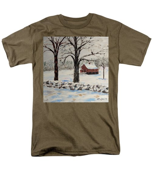 The Red Barn Men's T-Shirt  (Regular Fit) by Stanton Allaben