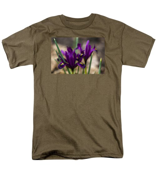 The Rise Of The Early Royal Dwarf Iris Men's T-Shirt  (Regular Fit) by Dan Hefle
