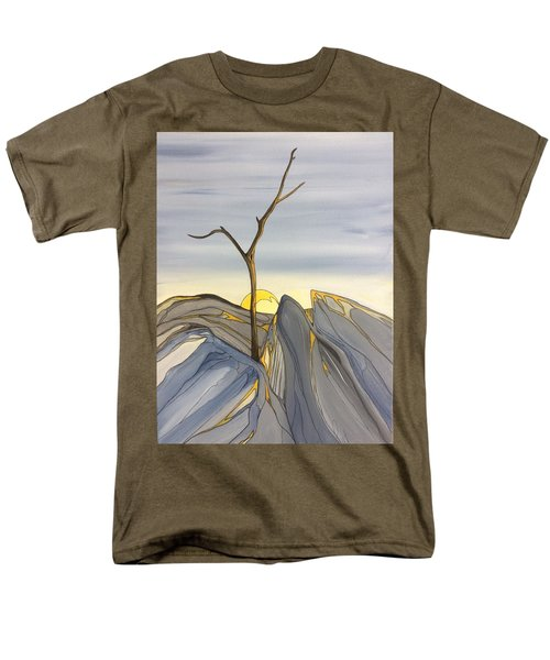 Men's T-Shirt  (Regular Fit) featuring the painting The Rock Garden by Pat Purdy