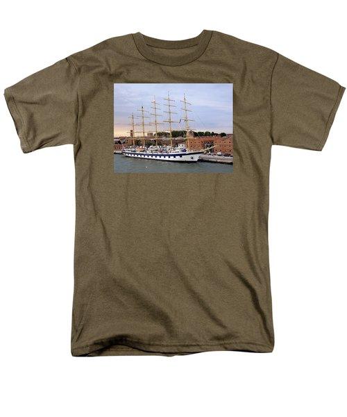 The Royal Clipper Docked In Venice Italy Men's T-Shirt  (Regular Fit) by Richard Rosenshein