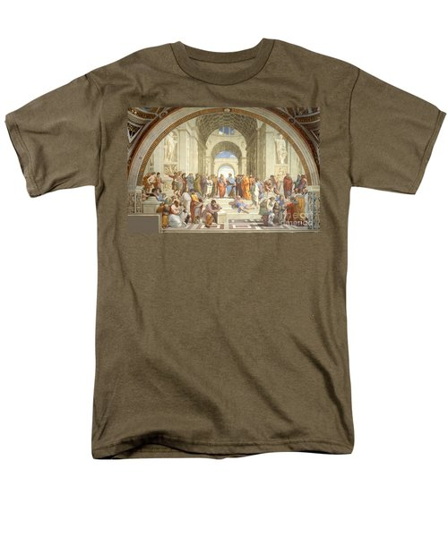 The School Of Athens, Raphael Men's T-Shirt  (Regular Fit) by Science Source