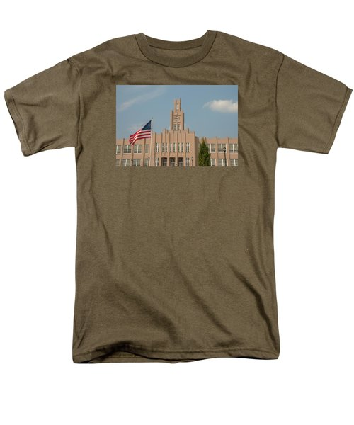 The School On The Hill Men's T-Shirt  (Regular Fit) by Mark Dodd