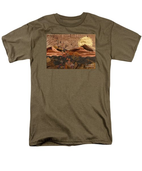 Men's T-Shirt  (Regular Fit) featuring the painting The Scream Of A Butterfly by Stanza Widen
