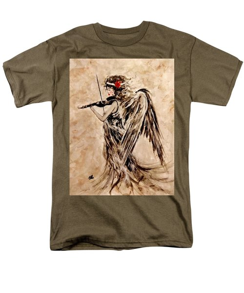 Men's T-Shirt  (Regular Fit) featuring the painting The Sound Of An Angel. by Cristina Mihailescu