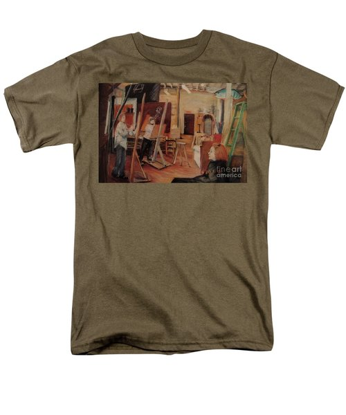 Men's T-Shirt  (Regular Fit) featuring the pastel The Studio by Nancy Kane Chapman