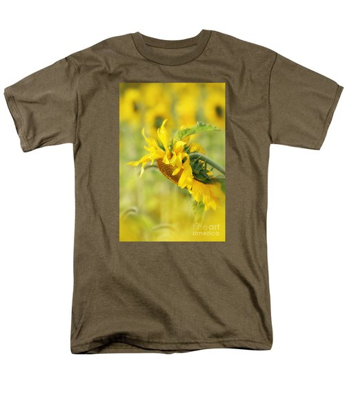 Men's T-Shirt  (Regular Fit) featuring the photograph The Sunflower by Lila Fisher-Wenzel