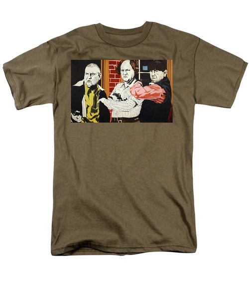Men's T-Shirt  (Regular Fit) featuring the painting The Three Stooges by Thomas Blood