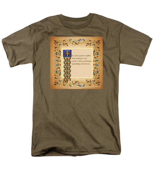 The Tree Grew Apples Square Men's T-Shirt  (Regular Fit) by Donna Huntriss