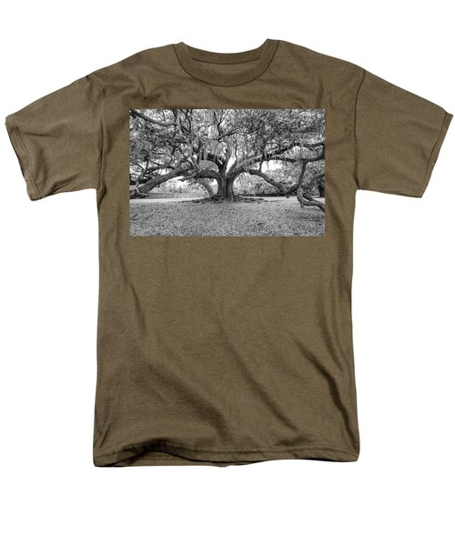 The Tree Of Life Monochrome Men's T-Shirt  (Regular Fit) by Steve Harrington