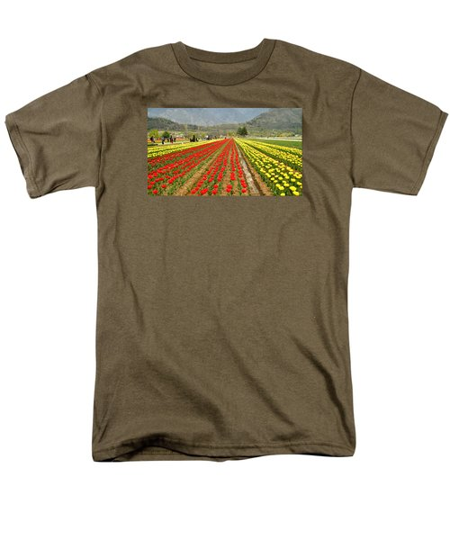 The Valley Blooms Men's T-Shirt  (Regular Fit) by Fotosas Photography
