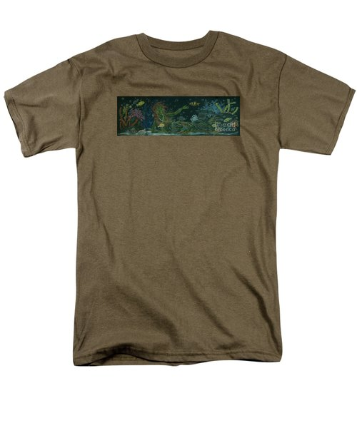 Men's T-Shirt  (Regular Fit) featuring the drawing The Visitor by Dawn Fairies