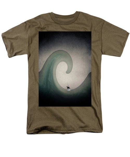 Men's T-Shirt  (Regular Fit) featuring the digital art The Voyage Of The James Caird. by Andy Walsh