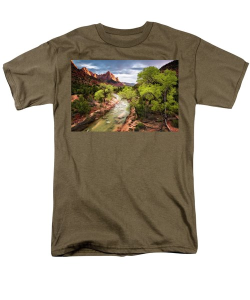 Men's T-Shirt  (Regular Fit) featuring the photograph The Watchman by Eduard Moldoveanu
