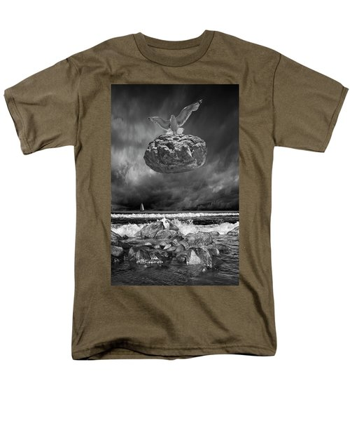Men's T-Shirt  (Regular Fit) featuring the photograph The Weight Is Lifted by Randall Nyhof