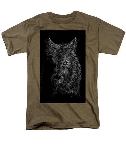 The Wolf In The Dark Men's T-Shirt  (Regular Fit) by Darren Cannell
