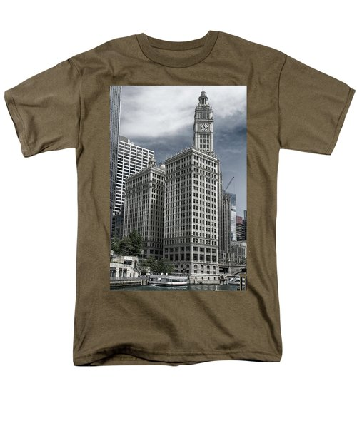 Men's T-Shirt  (Regular Fit) featuring the photograph The Wrigley Building by Alan Toepfer