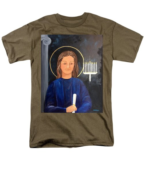 Men's T-Shirt  (Regular Fit) featuring the painting The Young Teacher by Ellen Canfield