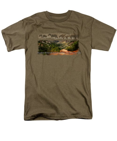 Theodore Roosevelt National Park Men's T-Shirt  (Regular Fit) by Ann Lauwers