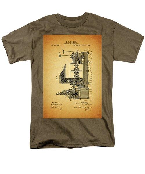 Thomas Edison Generator Patent Men's T-Shirt  (Regular Fit) by Dan Sproul