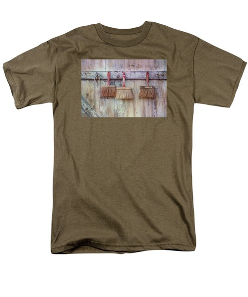 Men's T-Shirt  (Regular Fit) featuring the photograph Three Brushes by Tom Singleton