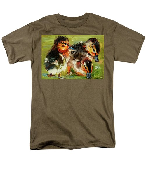 Three Little Ducks Men's T-Shirt  (Regular Fit) by Janet Garcia