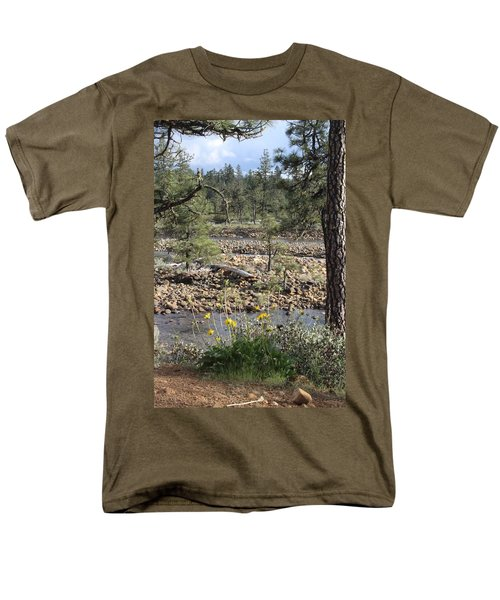 Men's T-Shirt  (Regular Fit) featuring the photograph Three Rivers In One by Marie Neder