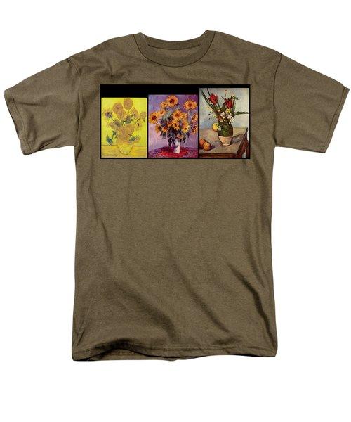 Three Vases Van Gogh - Cezanne Men's T-Shirt  (Regular Fit) by David Bridburg