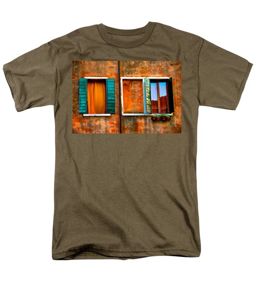 Three Windows Men's T-Shirt  (Regular Fit) by Harry Spitz
