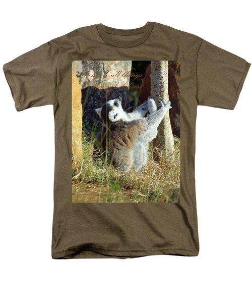 Through Christ Men's T-Shirt  (Regular Fit) by Inspirational Photo Creations Audrey Woods