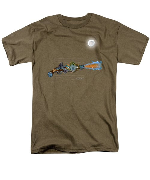 Men's T-Shirt  (Regular Fit) featuring the digital art Thunder Gun Of The Dead by Iowan Stone-Flowers