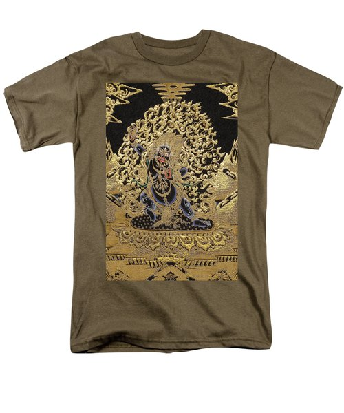 Tibetan Thangka - Vajrapani  Men's T-Shirt  (Regular Fit) by Serge Averbukh