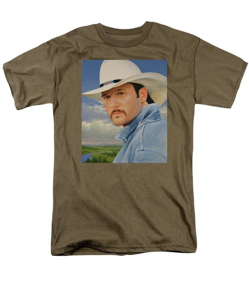 Men's T-Shirt  (Regular Fit) featuring the painting Tim Mcgraw by Cliff Spohn