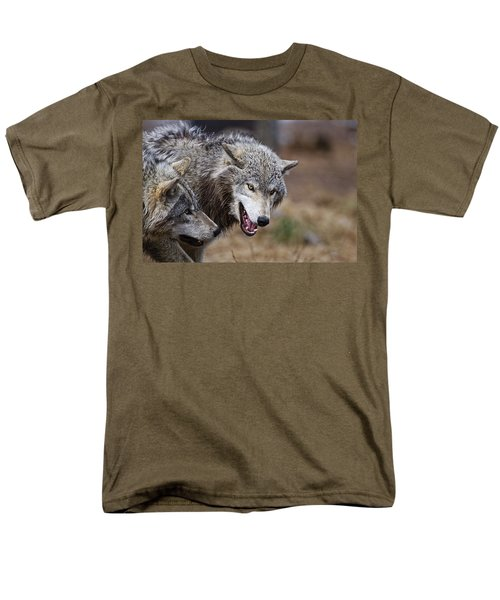 Men's T-Shirt  (Regular Fit) featuring the photograph Timber Wolves by Michael Cummings