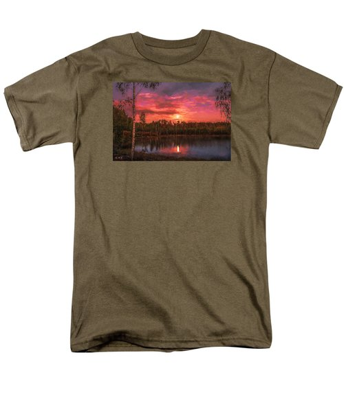 Men's T-Shirt  (Regular Fit) featuring the painting Time Of Grace by Rose-Maries Pictures