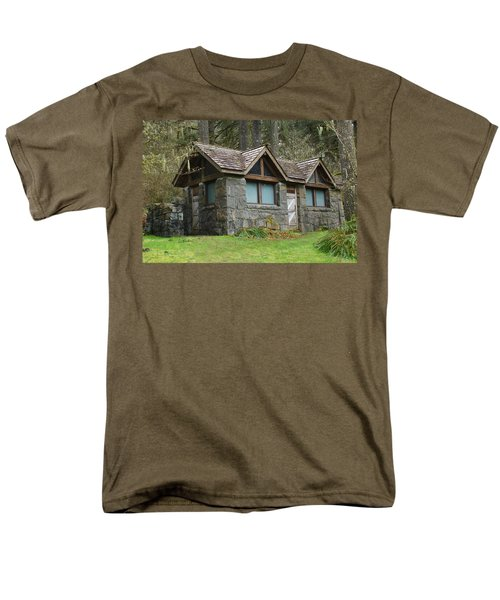 Tiny House In The Woods Men's T-Shirt  (Regular Fit) by Angi Parks