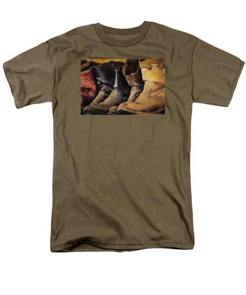 Tired Boots Men's T-Shirt  (Regular Fit) by Laura Pratt
