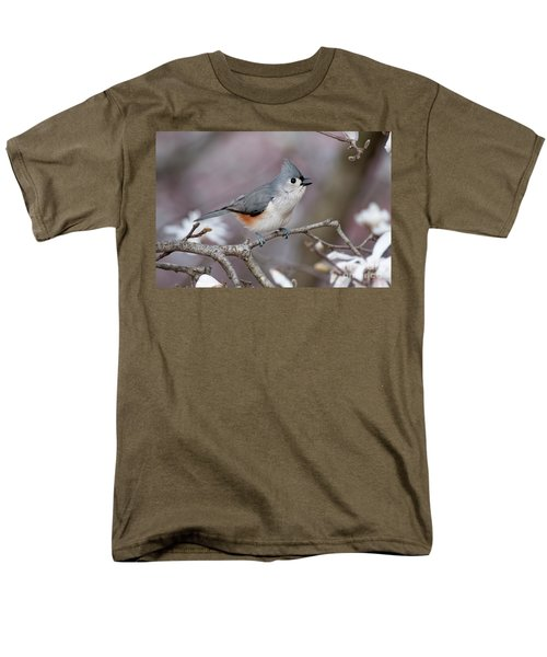 Men's T-Shirt  (Regular Fit) featuring the photograph Titmouse Song - D010023 by Daniel Dempster