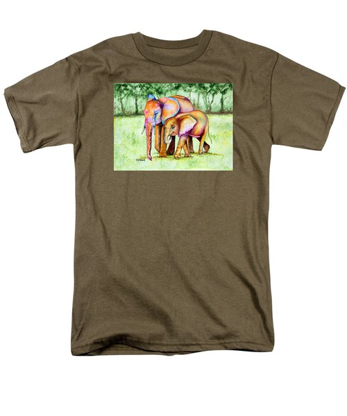 Men's T-Shirt  (Regular Fit) featuring the painting Together Forever by Maria Barry