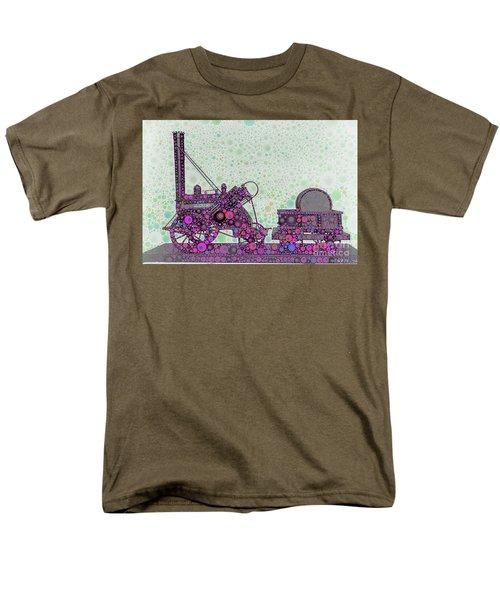 Stephenson's Rocket Steam Locomotive 1829 Men's T-Shirt  (Regular Fit) by Wernher Krutein