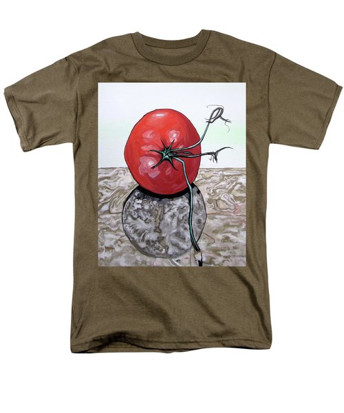 Men's T-Shirt  (Regular Fit) featuring the painting Tomato On Marble by Mary Ellen Frazee