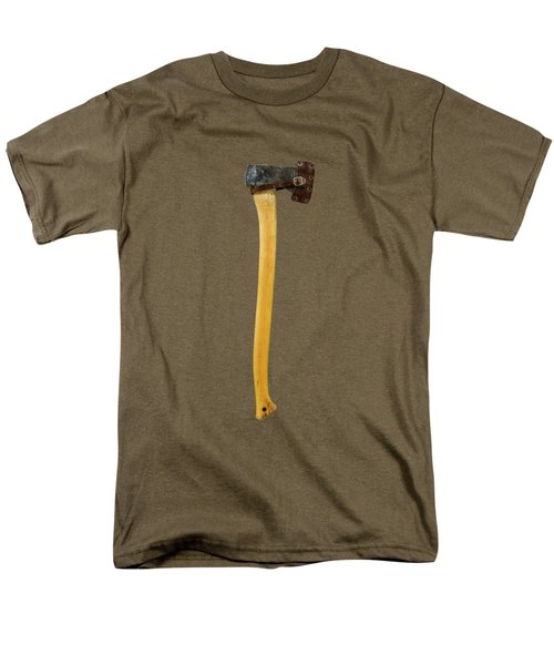 Men's T-Shirt  (Regular Fit) featuring the photograph Tools On Wood 11 On Bw by YoPedro