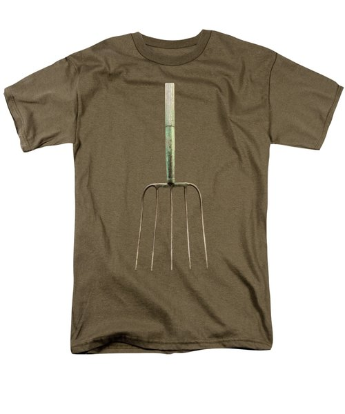 Men's T-Shirt  (Regular Fit) featuring the photograph Tools On Wood 7 On Bw by YoPedro