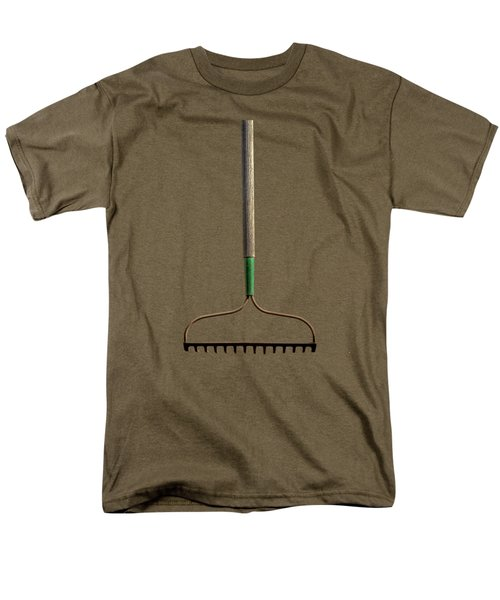 Men's T-Shirt  (Regular Fit) featuring the photograph Tools On Wood 8 On Bw by YoPedro