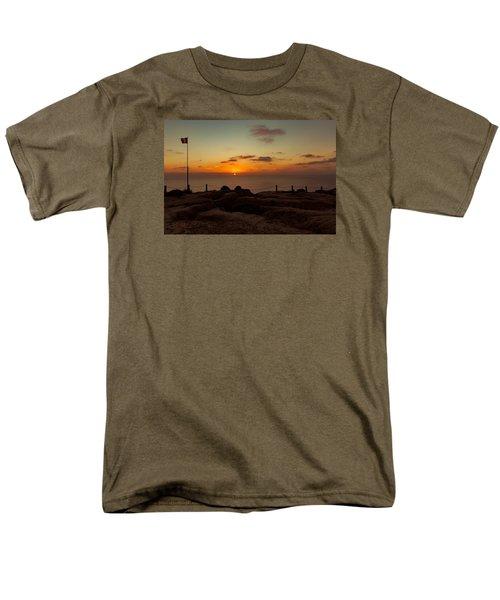 Torrey Pine Glider Port Sunset Men's T-Shirt  (Regular Fit) by Jeremy McKay