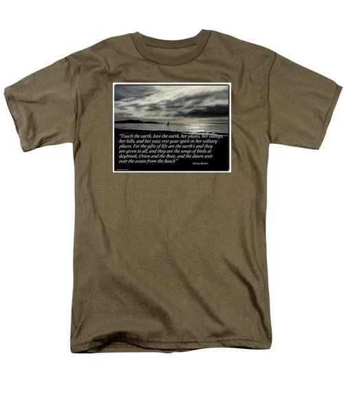 Touch The Earth Men's T-Shirt  (Regular Fit)