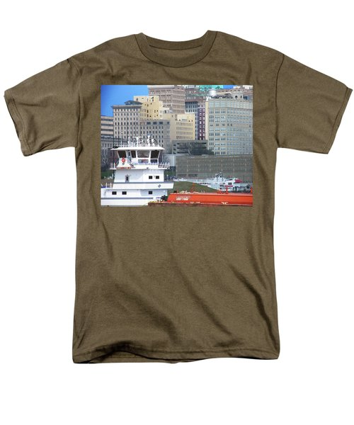 Towboat Robt G Stone At Memphis Tn Men's T-Shirt  (Regular Fit) by Lizi Beard-Ward