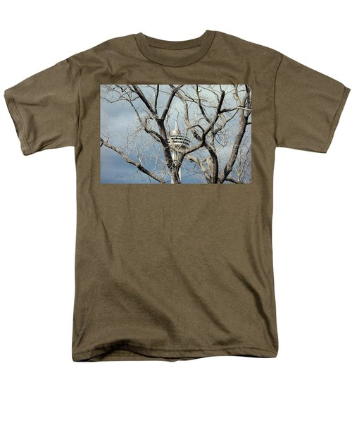Men's T-Shirt  (Regular Fit) featuring the photograph Tower And Trees by Valentino Visentini