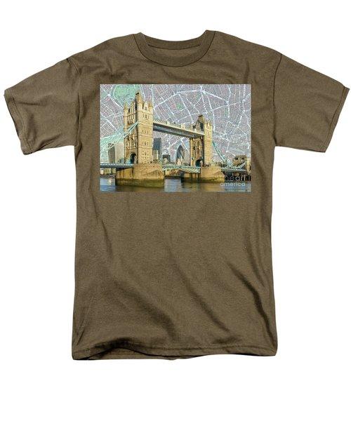 Men's T-Shirt  (Regular Fit) featuring the digital art Tower Bridge by Adam Spencer